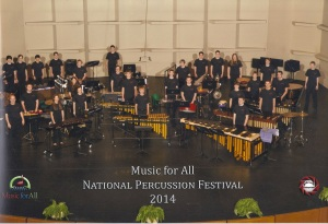 Stillwater Percussion Ensemble Performance at the Sandy Feldstein National Percussion Festival March 6, 2014
