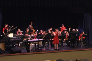 Jazz Ensemble performing at the Eau Claire Jazz Festival.