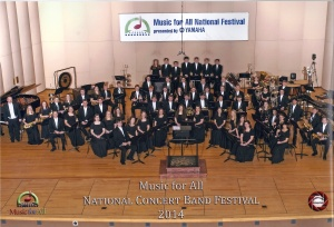 The Stillwater Wind performing at the National Concert Band Festival March 6, 2014.