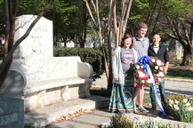 Presenting the wreath at Sousa's Grave
